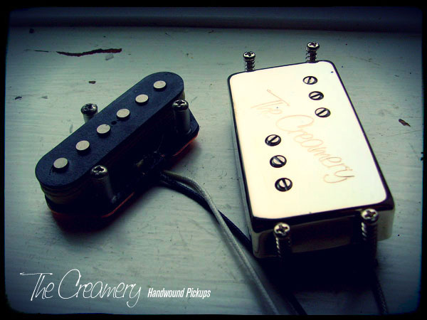 Creamery Custom Handwound Replacement '72 Custom Tele Pickup Set - Tele Custom 72 Pickups