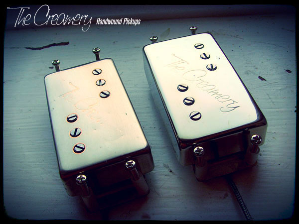 Creamery Custom Handwound Custom Classic 71 Wide Range Humbucker Reproduction Pickups - Nickel and Aged Nickel Covers