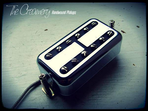 Creamery Custom Handwound Classic Black Cat Humbucker Sized Replacement Filtertron Pickup - thumbnail