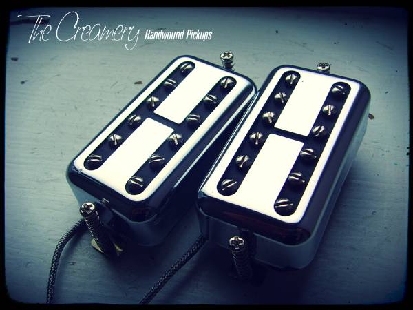 Creamery Gibson PAF sized Black Cat Replacement Filtertron Pickups