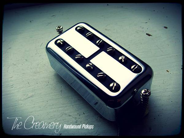 Creamery Classic Black Cat Replacement Overwound Hot Filtertron Pickup PAF Humbucker Size