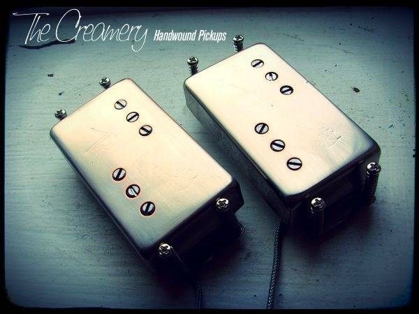 Creamery Custom Handwound Extra Width Wide Range Tele Thinline Deluxe Humbucker Pickup Set