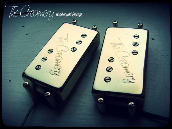 Creamery Custom Handwound Modern Wide Range Tele Thinline Deluxe Humbucker Replacement Pickup Set