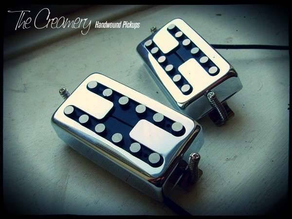 Creamery Custom Handwound Replacement 12-Pole Humbucker Set - Designed for True Single Coil Split