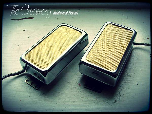 Creamery Custom Sweet 14 Gold Foil Pickup Set - Gibson PAF Humbucker Size
