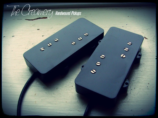 Creamery Custom Handwound True Wide Range Humbucker Set for Jazzmaster - Direct Drop-In Replacement Wide Range Humbucker Pickup Set