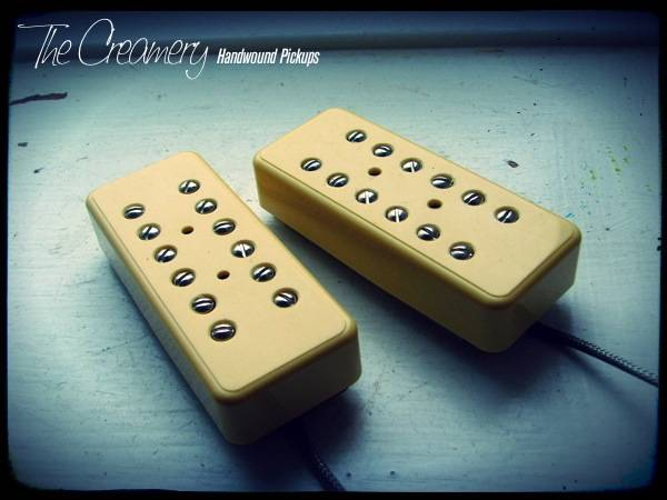 Creamery Custom Handwound Replacement P90 Sized Fat Humbucker Pickup Set
