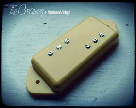 Creamery Replacement P90 Pickups - Baby 71 Wide Range Humbucker Standard P90 Dogear sized
