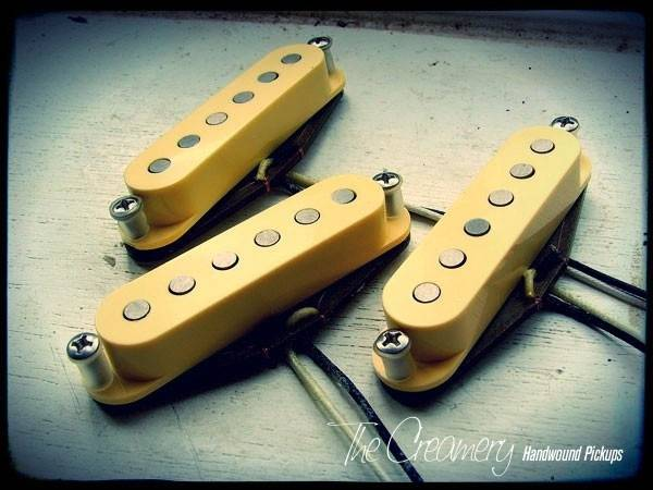 Creamery Custom Handwound Scooped Mids Skinny Strat Scooped Mid-Range Replacement Pickup Set