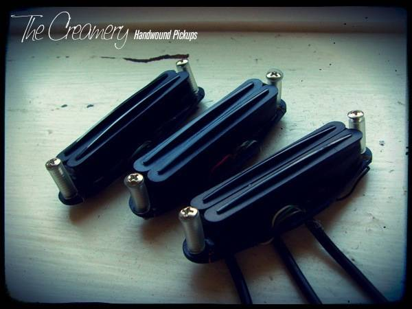 Creamery Custom Handwound 'Double-Track', Hum-Cancelling Replacement Strat Pickup Set for Noiseless Strat Tones
