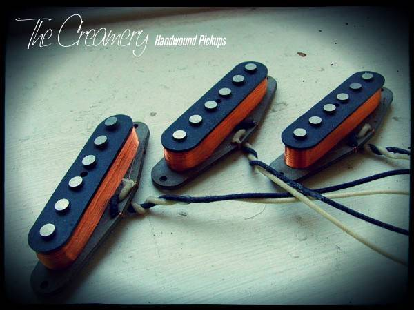 Creamery Custom Handwound Warmer, Fatter, Bluesier Sweet '74 Strat Set - A Higher Output Vintage Strat Pickup Set