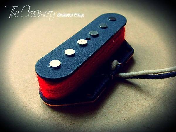 Creamery Custom Handwound Red '79 Tele Bridge Pickup - Bright, Attacking Alnico 5 Tele Bridge - Late '70s New Wave Post Punk