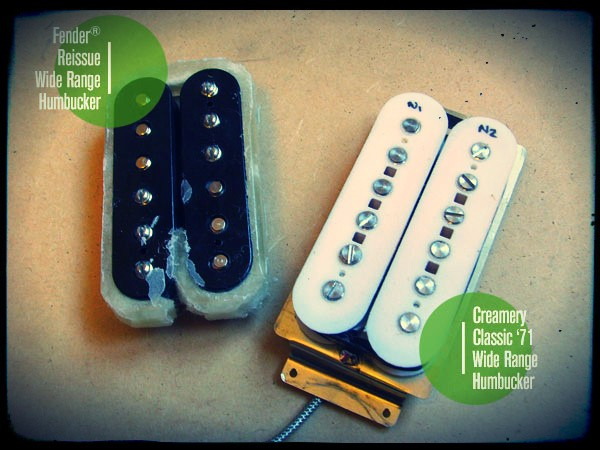 Creamery Wide Range Thinline Tele Humbucker Reissue Pickup Upgrade Comparison