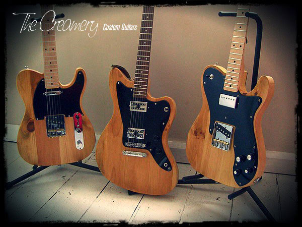 Creamery Custom Handmade Guitars - Blackguard Series - Handmade from Old Pine