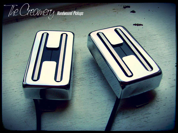 Creamery Custom 'Double Track' Handwound Blade Rail replacement Humbucker Pickup