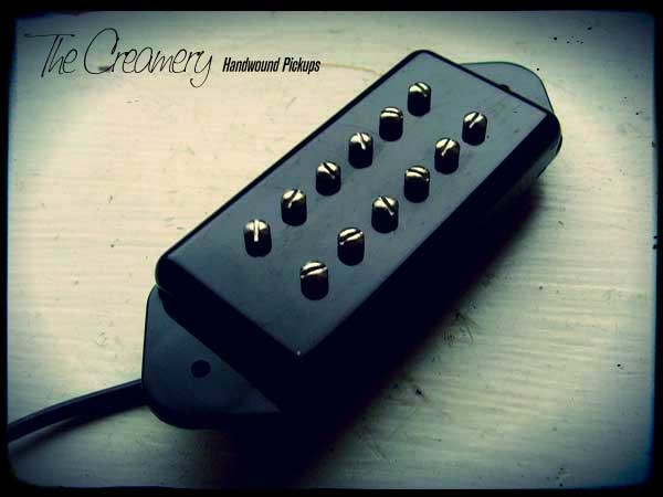 Creamery Custom Handwound Replacement P90 Dogear Sized Humbucker Pickups