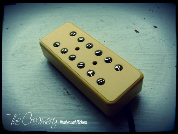 Creamery Custom Handwound Replacement P90 Sized Fat Humbucker Pickups