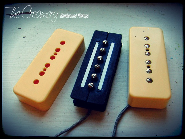 Creamery Custom Handwound Replacement P90 Sized Humbucker Pickups