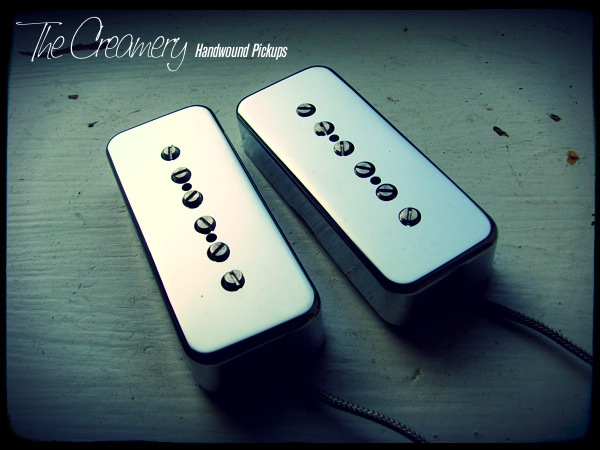 Creamery Custom Handwound Sonic-Six P90 Pickups With True Chrome Plated Nickel Covers (Not Plastic)