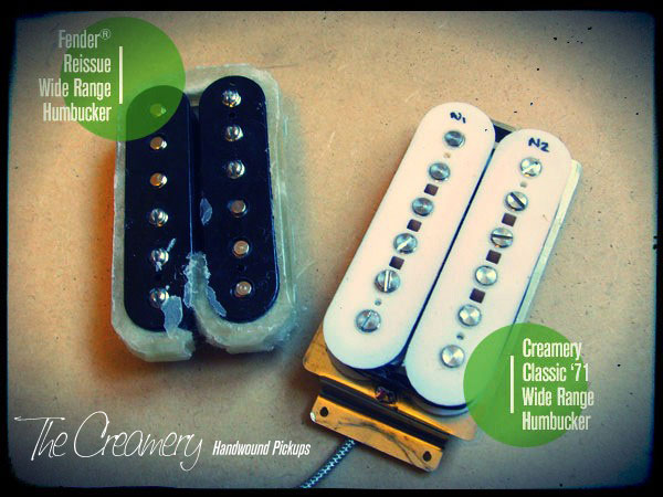 Creamery Custom Handwound Replacement Wide Range Humbucker Reissue Upgrade