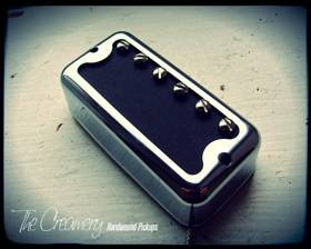 Creamery Handwound Humbucker Sized Filtertron Style Pickups - Black Cat HiLo '60 Pickup - No Ears Mount