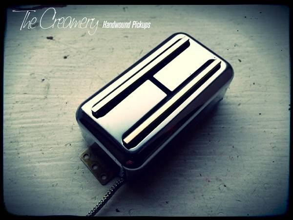 Creamery Custom Handwound Super Black Cat Replacement Filtertron Style Pickup Set Standard Gibson/PAF Humbucker Size