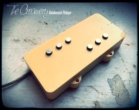Creamery Custom Replacement Jazzmaster Pickup Upgrades - Domino Split-Coil Hum-Cancelling Jazzmaster Pickup