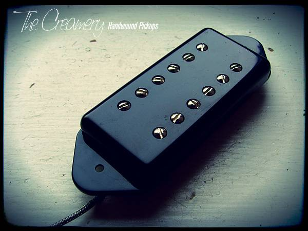 Creamery Custom Handwound P90 Sized Fat Humbucker for Dogear P90 - Warmer, PAF style P90 sized Humbucker