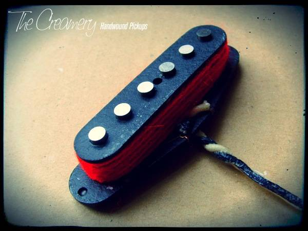 Creamery Custom Handwound Red '79 Replacement Strat Pickup - Bright, Attacking Late '70s Post-Punk / New Wave Inspired Pickup