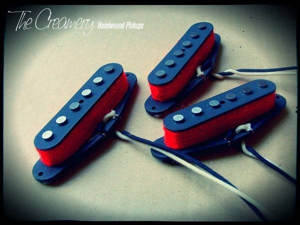Creamery Custom Handwound Red '79 Replacement Strat Pickup Set - Bright, Attacking Late '70s Post-Punk / New Wave Inspired Strat Pickup Set