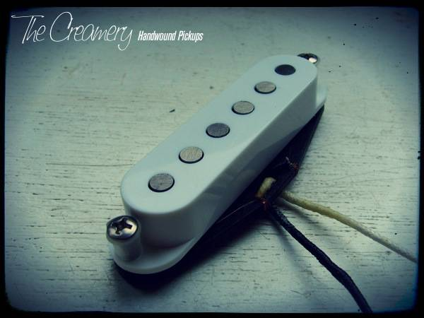 Creamery Custom Handwound Scooped Mids Skinny Strat Scooped Mid-Range Replacement Pickup