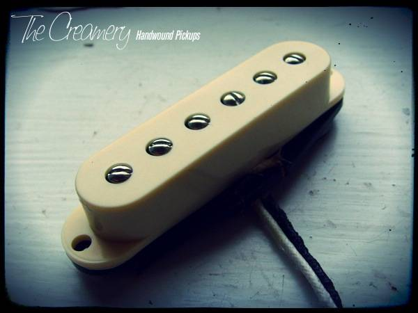 Creamery Custom Handwound Strat-90 Replacement Pickup - Strat Sized P90 Design Pickup - Mid-Range