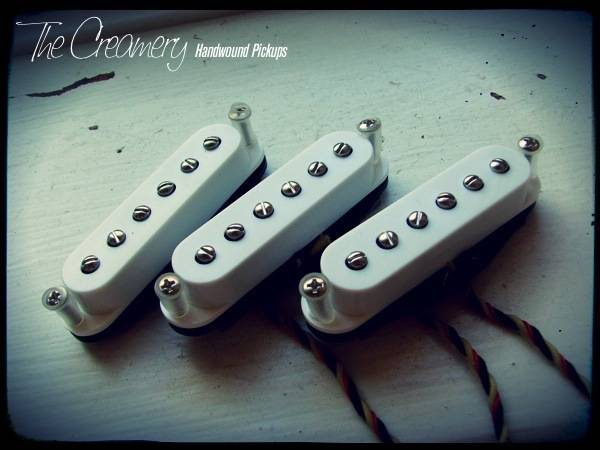 Creamery Custom Handwound Strat-90 Replacement Pickup Set - Strat Sized P90 Design Pickup Set