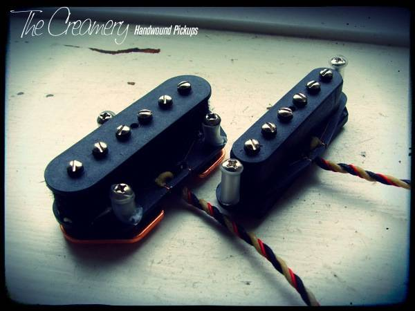 Creamery Custom Handwound Tele-90 Set - Tele Sized P90 Design Pickup Set - Warmer, Grittier P90 Tone from a Tele Bridge & Neck