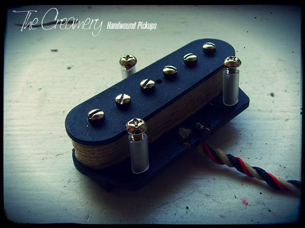Creamery Custom Handwound Tele-90 - Tele Sized P90 Design Pickup - Warmer, Grittier P90 Tone from a Tele Bridge