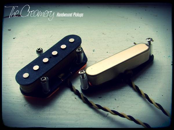 Creamery Custom Handwound Telecaster Bridge & Neck Balanced Pickup Set - Calibrated for good volume balance