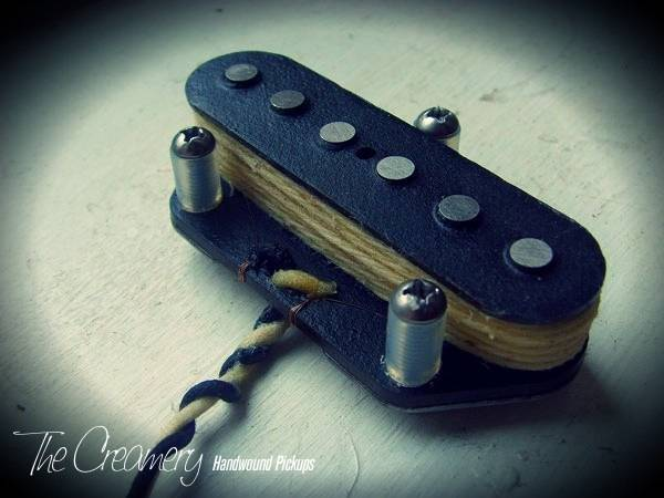 Creamery Custom Handwound Alnico 2 Vintage 2 Broadcaster Tele Bridge Pickup - Based on the Classic 'Broadcaster' Tones