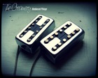 Creamery Custom Domino Pickup Set - Humbucker Hum-Cancelling Sized Single Coil Tone