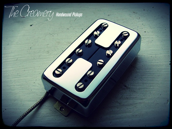 Creamery Custom Domino Hot Coil Bridge Pickup - Humbucker Sized 'Doubled Up' Single Coil Sound
