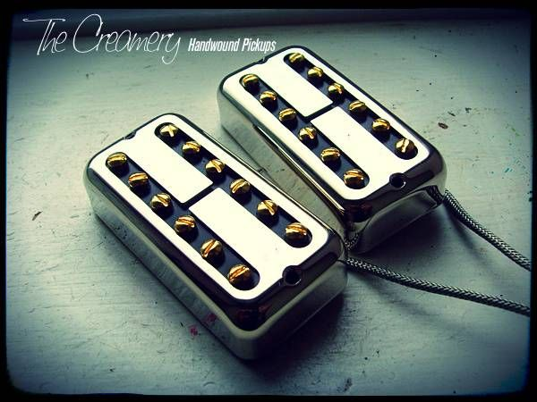 Creamery Custom Handwound Classic Black Cat Humbucker No Ears Filtertron Pickup