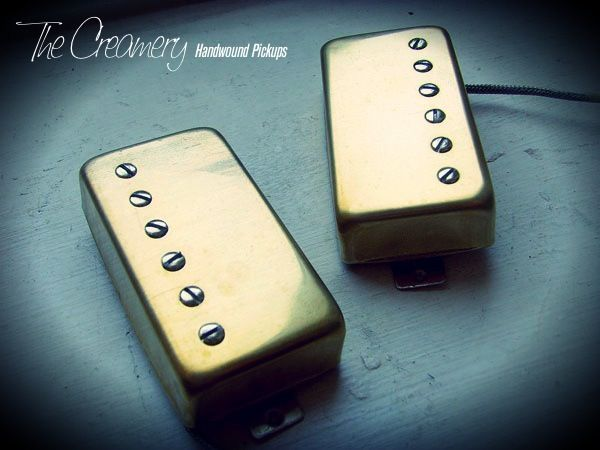 Creamery Custom Handwound '59 Replacement Humbucker Pickups - Aged Gold Covers