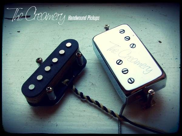 Creamery Custom Handwound Balanced Calibrated Tele Telecaster Bridge and Baby '71 Wide Range Humbucker Neck Pickup Set