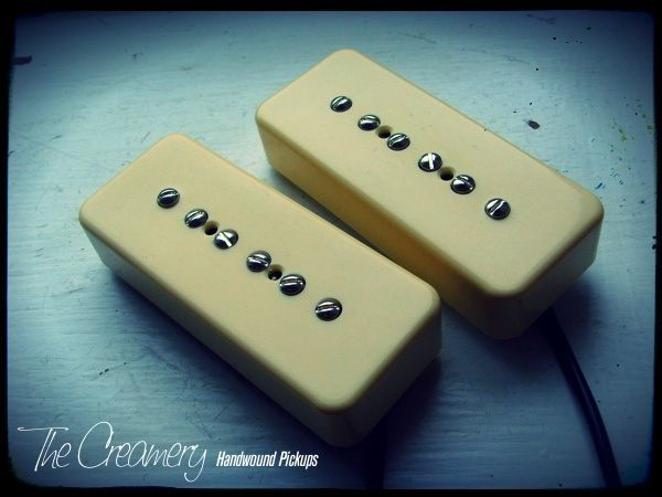 Creamery Custom Handwound Classic '57 P90 Pickups Cream Rounded Cover