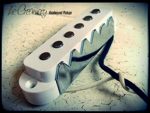 Creamery Custom Handwound Replacement Classic '62 Jaguar Pickup with Steel Claws in White Cover