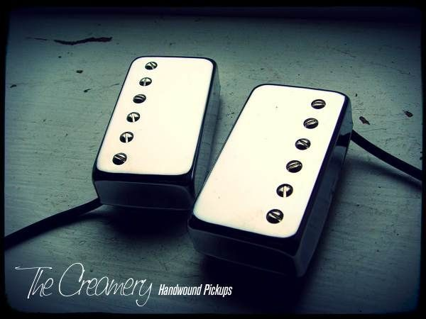 Creamery Custom Handwound Replacement Humbucker Pickups - Rounded  Chrome Covers