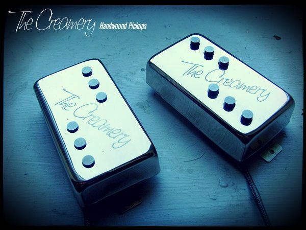 Creamery Custom Handwound Single Coil Voiced Humbucker Sized Domino Replacement Pickups
