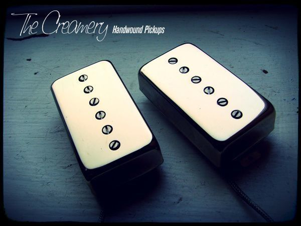 Creamery Custom Handwound Sonic-Six Humbucker Sized Single Coil Adjustable Pole Pickups Set