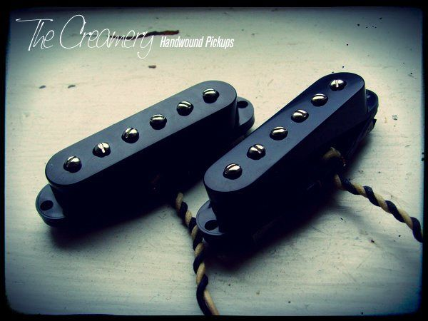 Creamery Custom Handwound Strat Sized P90 Pickups for Mustang Duo-Sonic