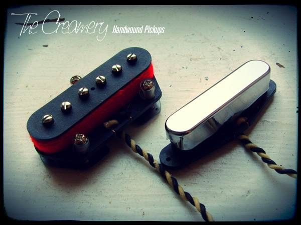 Creamery Custom Handwound Tele-90 and Extra Width Tele Neck Replacement Pickup Set