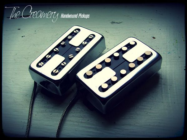 Creamery Custom Handwound Domino Single Coil Voiced Replacement Humbucker Sized Pickups